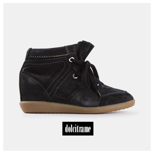 ISABEL MARANT 'bobby' hi-top trainer #isabelmarant #isabelmarantsneakers #shoes #shoesaddicted #ss14 #newin #newarrivals #newcollection #fashion #ootd #womenswear #womenstyle #dolcitrame