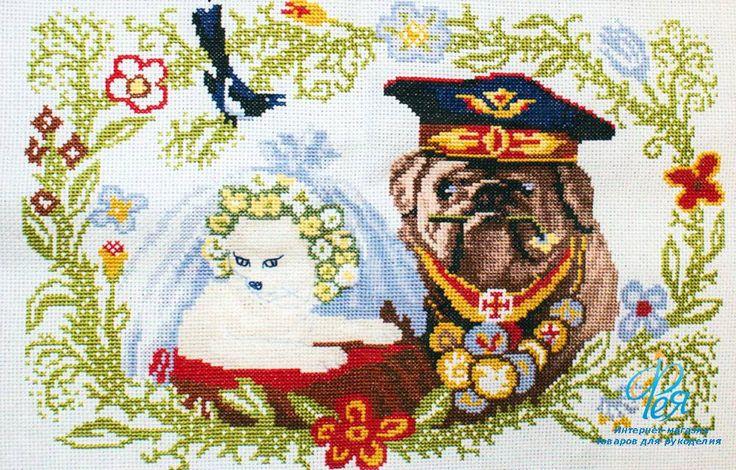 Набор для вышивания крестом Astrea 33003 (Неравный брак)