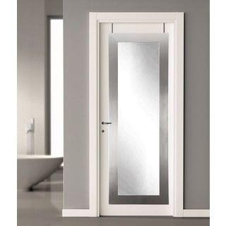 Modern Silver Over the Door Full Length Mirror