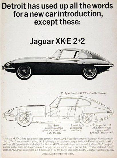 Jaguar XK-E 2-2 1966 Detroit Car Introduction - Mad Men Art: The 1891-1970 Vintage Advertisement Art Collection