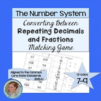 repeating decimals matching game math 8 ideas repeating decimal decimal games 8th grade math. Black Bedroom Furniture Sets. Home Design Ideas