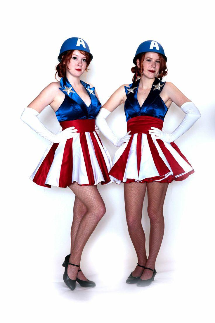 Custom size Captain America USO girl costume by aeriat on Etsy, $275.00