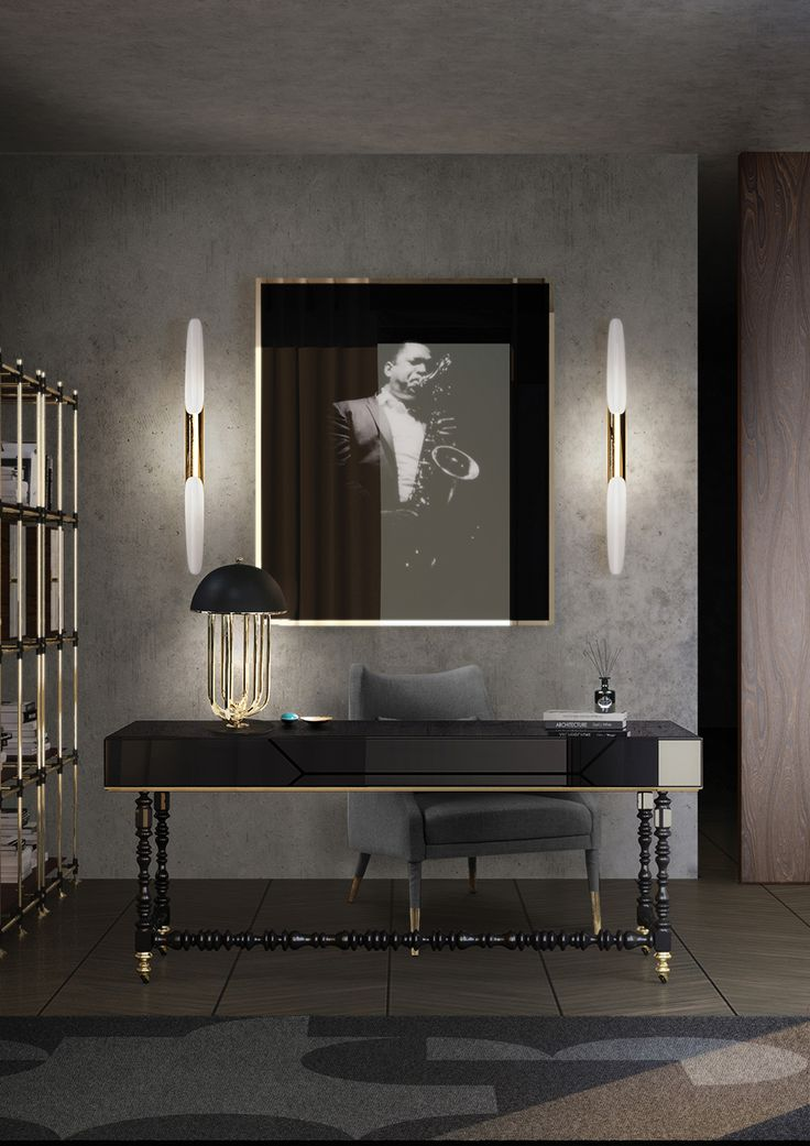 Tina Turner is a diva, so DelightFull got inspiration to make Turner table lamp, what a wonder and refreshing light! Coltrane tubes gives a touch of contemporary design. This office design interior certainly will be a trend for 2017. The best inspiration for you make good decisions! The best interior design!
