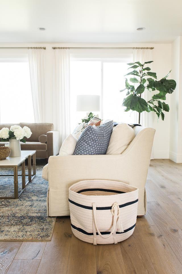 Newport Stripe Basket, storage in living room