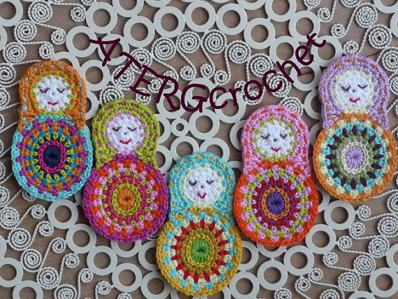 Crochet pattern matryoshka by ATERGcrochet by ATERGcrochet on Etsy, €2.65