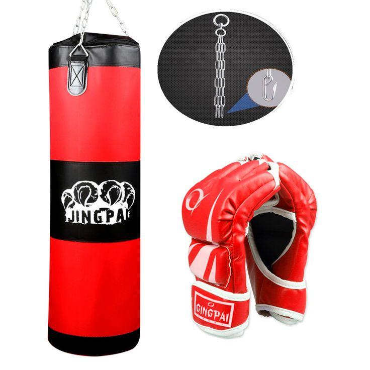 New 100cm Training Fitness MMA Boxing Bag Hook Hanging saco de boxe Kick Fight Bag Sand Punch Punching Bag Sandbag