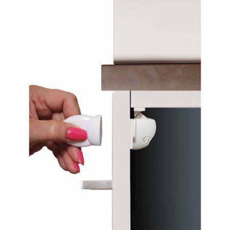 Dreambaby Adhesive Mag Lock, 8 Locks/1 Key, White