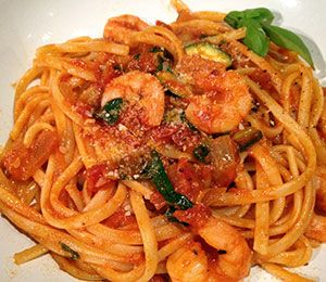 Linguini tomato gamberi