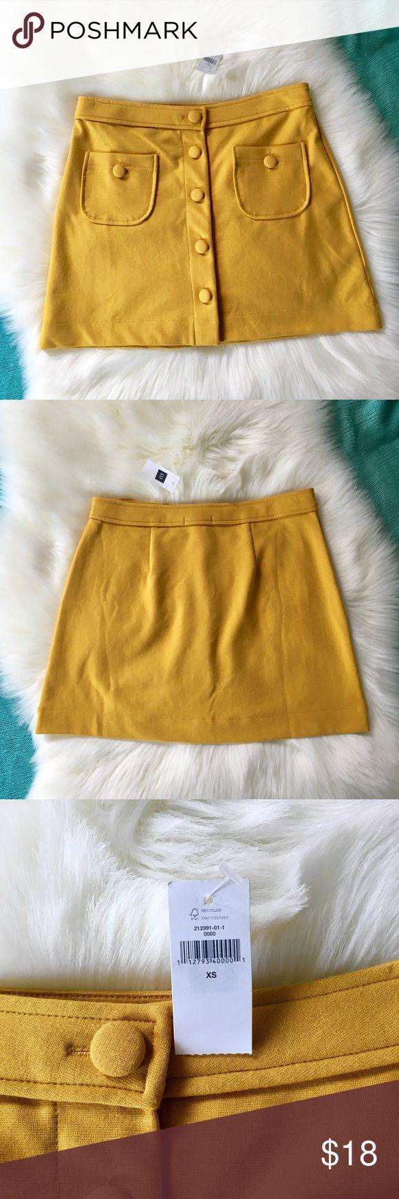 mustard yellow Gap skirt New with tags! XS Gap skirt. So cute! GAP Skirts