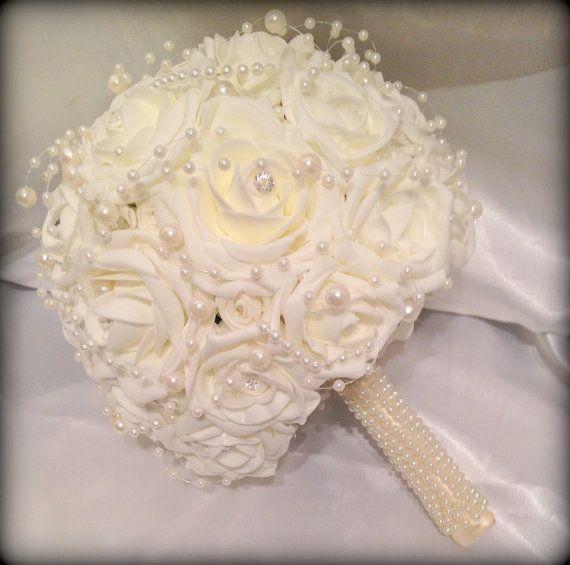So very beautiful! Wedding Flowers Brides Beautiful'elegant'posy by FlowersbySara, £59.00