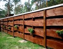 Image result for wood fence design