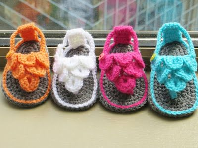 Crochet Dreamz: Crocodile St Baby Sandals or Booties, Crochet Pattern, 0-12 months
