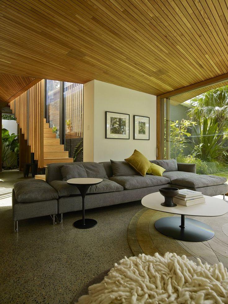 The Balmain House by Fox Johnston. I love wooden interior!