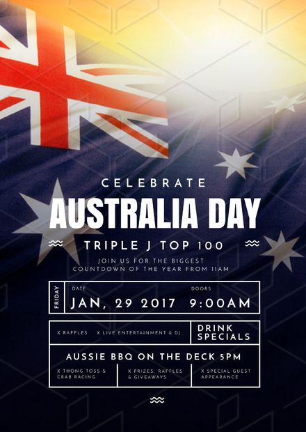 Australia Day Templates, DIY Design, Australia Day Posters and Flyers - Flag Design