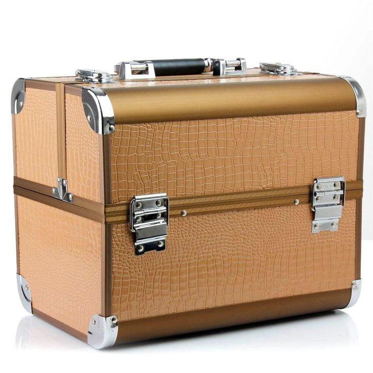 nagelkoffer nagelstyliste koffer beautycase croco chocolate