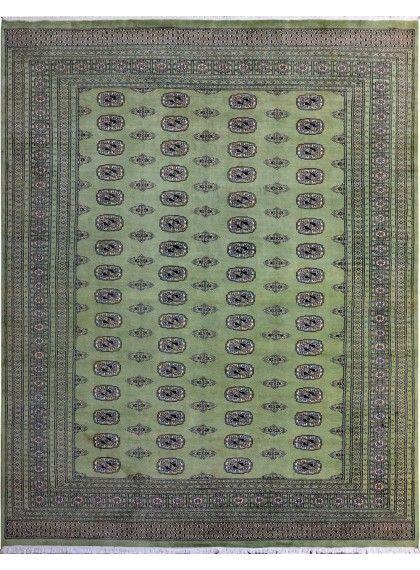 Handmade Pakistani Green Oriental Bokhara Rug 8 X 10 4