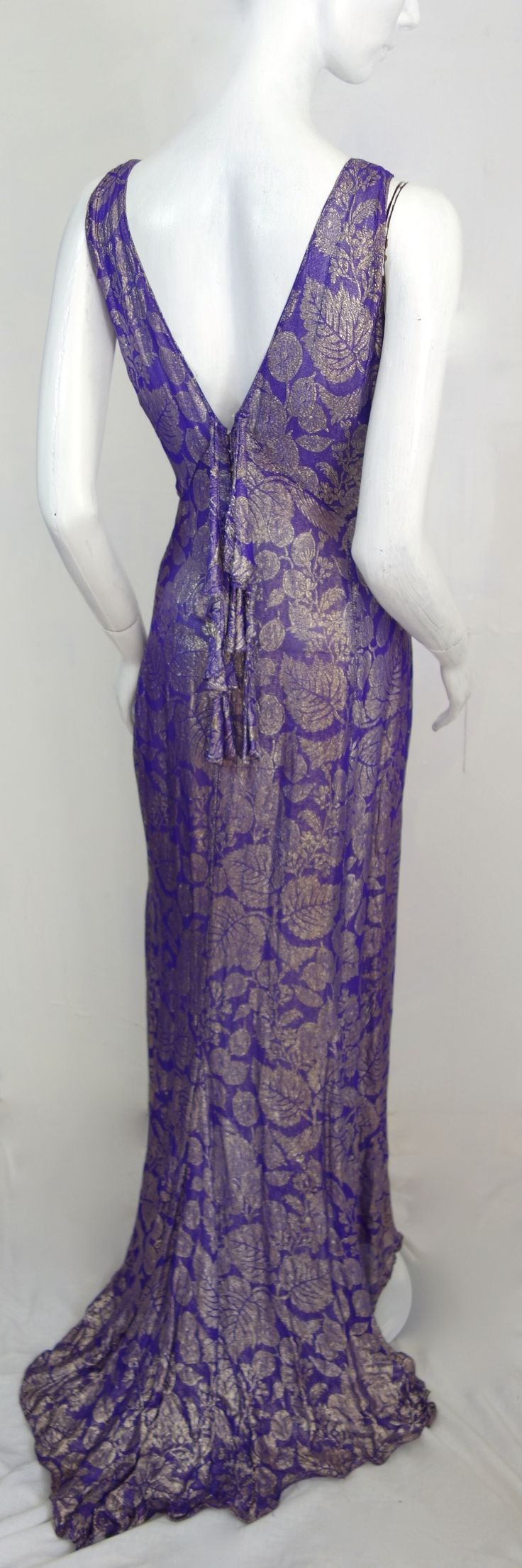 exquisite heavenly purple & gold lame couture late 1920s-30s by thee hub