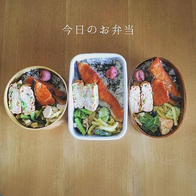 5月2日(火)おはようございます。 今日はいいお天気になりそうですね。 明日は休みだー♪ だから今日は頑張れそう😁 . . 今日のお弁当 ◯焼鮭 ◯ねぎ生姜入り卵焼き(娘作) ◯マカロニサラダ ◯小松菜と油揚げの煮浸し #お弁当 #地味弁 #節約弁当 #手作り弁当 #地味弁当 #夫婦弁当 #サラメシ #ランチ #手抜き弁当 #簡単弁当 #お昼ご飯 #ダサ弁 #曲げわっぱ弁当 #野田琺瑯  #今日のお弁当 #お弁当大好き #時短弁当 #オベンタグラム #親子弁当 #家族弁当 #JK弁当 #もち麦ごはん #娘は自分で詰めてるよ . . では今日も早い出勤 行ってきます👋yk_garden