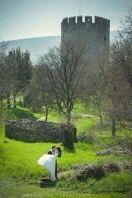 Spring outdoor wedding idea  Photo by Manthos Tsakiridis