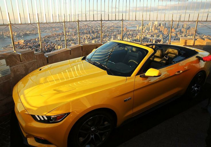 The car looks great. ... on top of the @Empire State Building