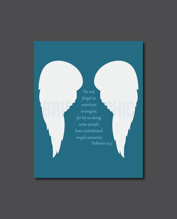 Angel wings bible quote typography modern home by for Modern house quotes
