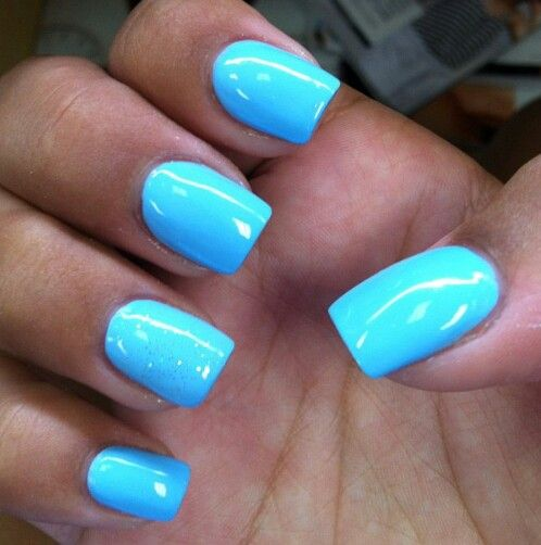 bright blue nails. Check out more #Art & #Designs at: http://www.vektfxdesigns.com