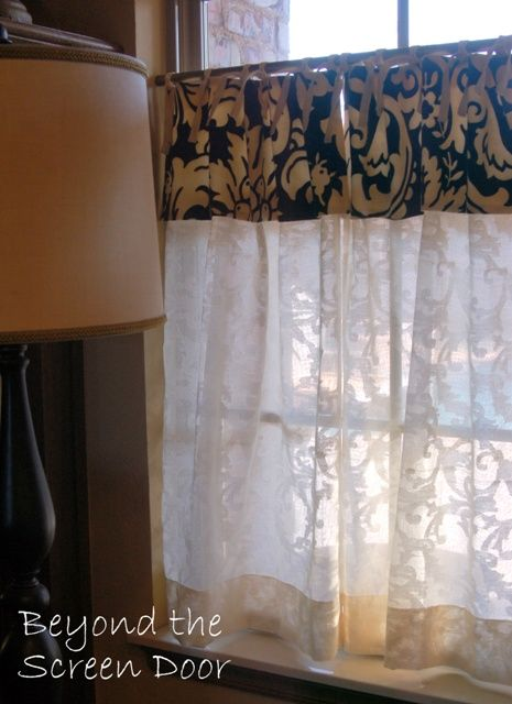 Simply Elegant Ivory Cotton Cafe Curtains | Beyond the Screen Door