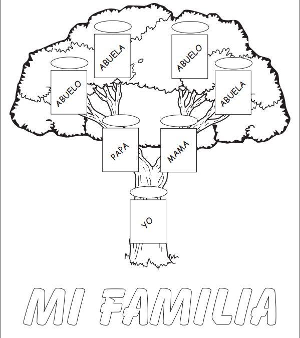 Arbol genealogico para niños primaria - Imagui