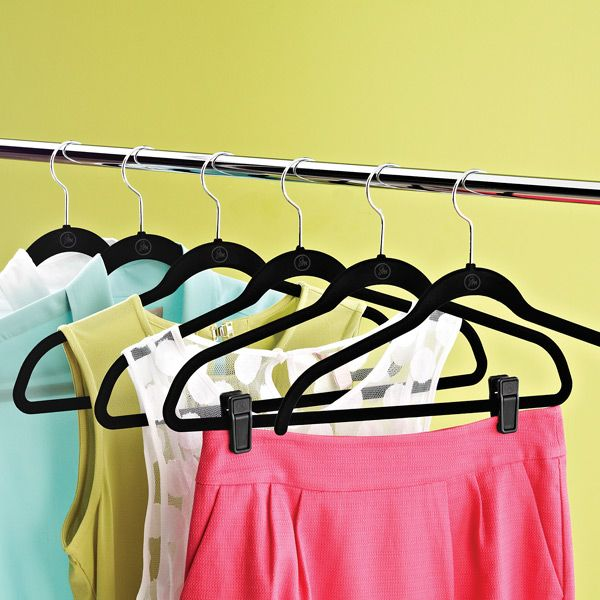 joy mangano black huggable hangers black the o 39 jays and container store. Black Bedroom Furniture Sets. Home Design Ideas
