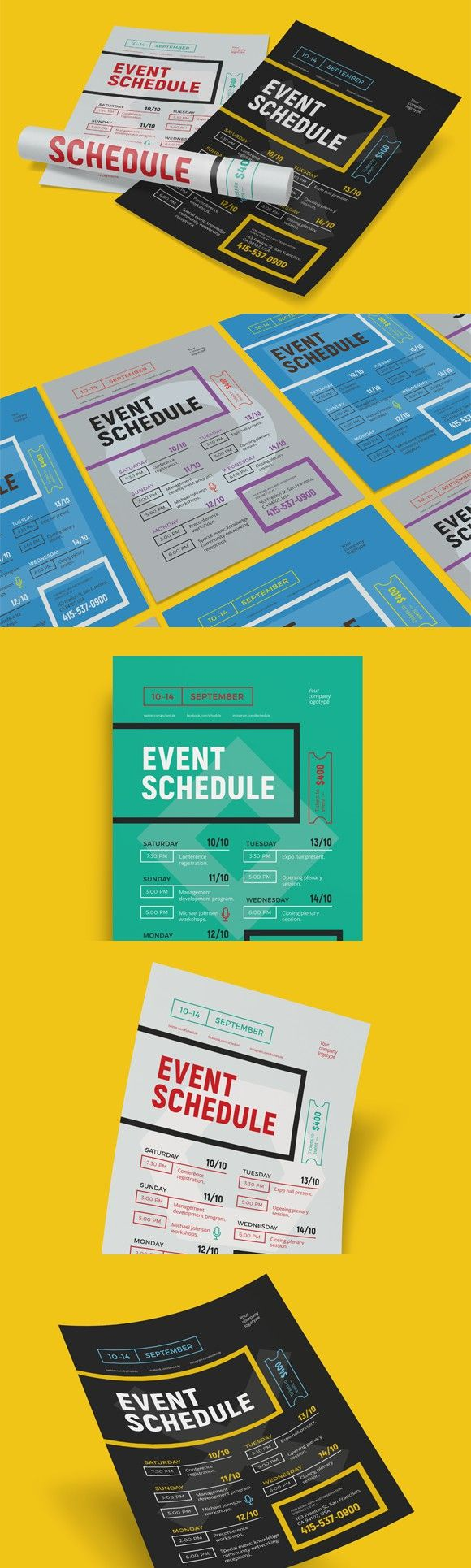 Schedule event poster template. Poster Templates. $6.00