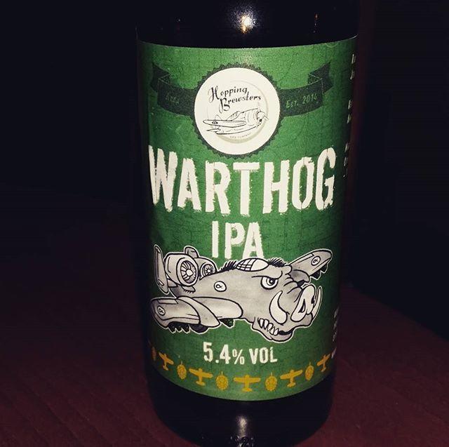 Enough hops - 100 IBU Warthog IPA by @HoppingBrewsters  Heavy payload American #IPA  #suomalaisetkäsityöläisoluet #beer #craftbeersfromfinland #käsitööõlu  #käsityöläisolut #hantverksöl #birra  #craftbeer #craftbeerlifestyle #bier #øl #cervezaartesanalfinlandese #4hops magnum #centennial #citra #columbus #beerstagram #craftyfollow #cerveza #hoppingbrewsters #suomalaisetkäsityöläispanimot #õlu #pintplease #craftbeerporn #olutta  #craftbrewery #käsityöläispanimo #hantverksbryggeriet…