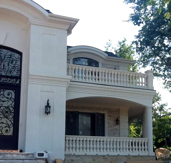 Balustrade Design For #patio And #balcony Of This Residential Home.  Www.coralcast