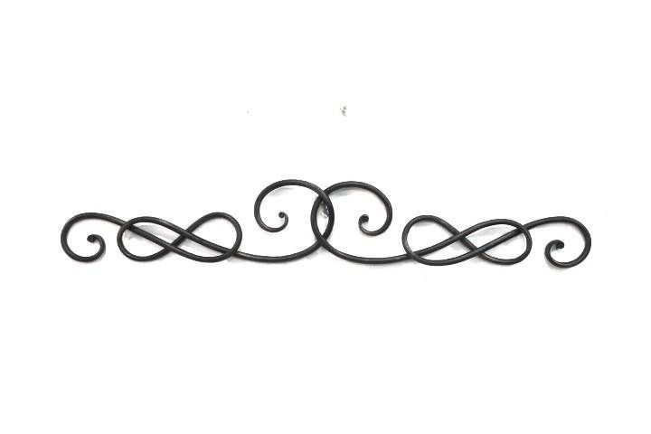 Scroll Design Wall Decor : Fia transitional quot wrought iron scrolling knot wall