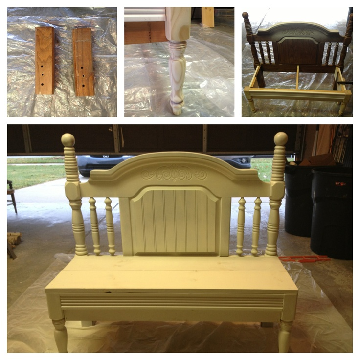 Old Headboard Into A Bench Had To Cut About