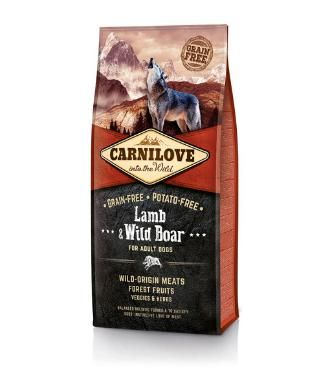 Carnilove Lamb & Wild Boar is a super premium, cereal and grain free dog food suitable for all adult dogs.