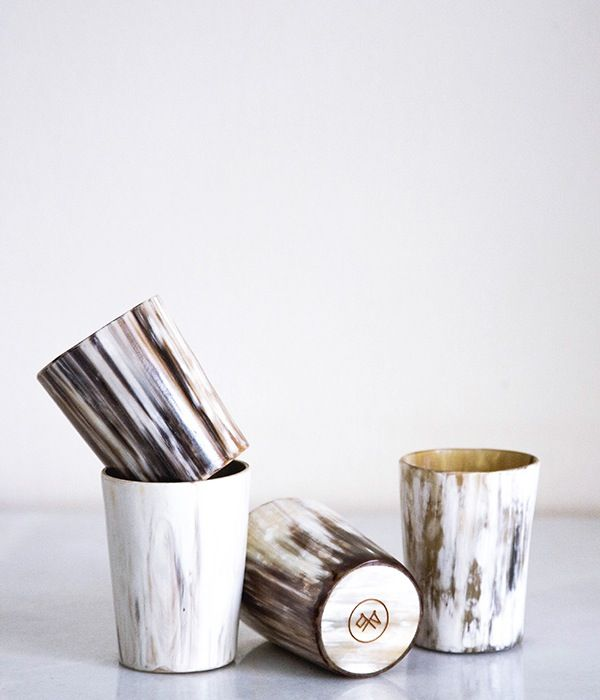Image of Cow Horn Whisky Tumbler Set – Light