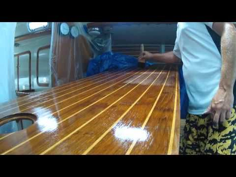 How to Varnish and Refinish a cabin sole - sailboat floor ...