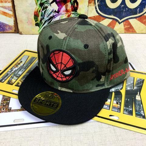 2018 Spiderman superman Flash cosplay embroidery Baseball Cap kids Boy Girl  Hip Hop Army Camouflage hat 98f61ae66453