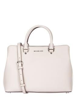 MICHAEL KORS SAVANNAH BORSA A MANO LARGE LEATHER CEMENT