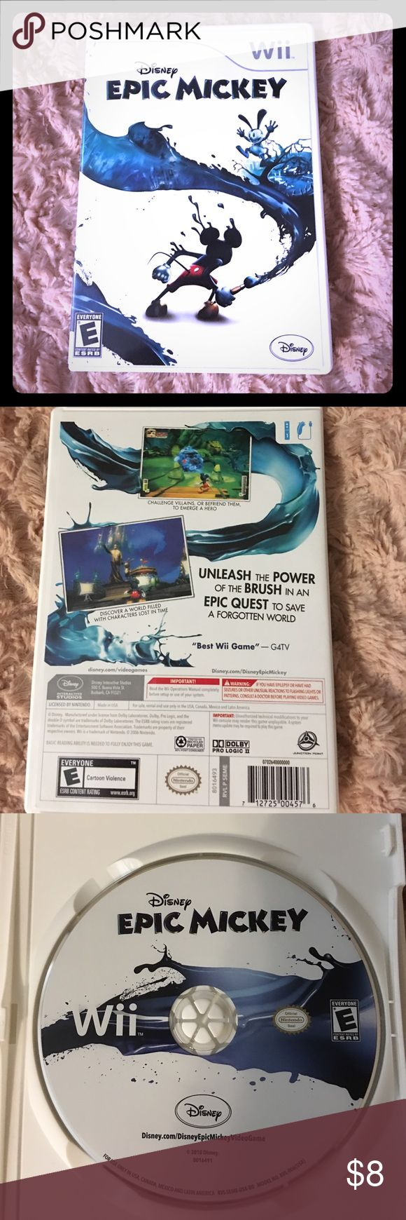 Disney's Epic Mickey Wii game: Epic Mickey. Rarely used. Nintendo Other