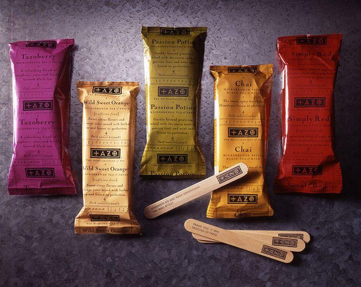 + A Z O: Branding Design, Packaging Design, Frozen Teas, Design Firm, Tazo Design, Packs Design, Packaging Xxxx, Sandstrom Partners, Teas Bar