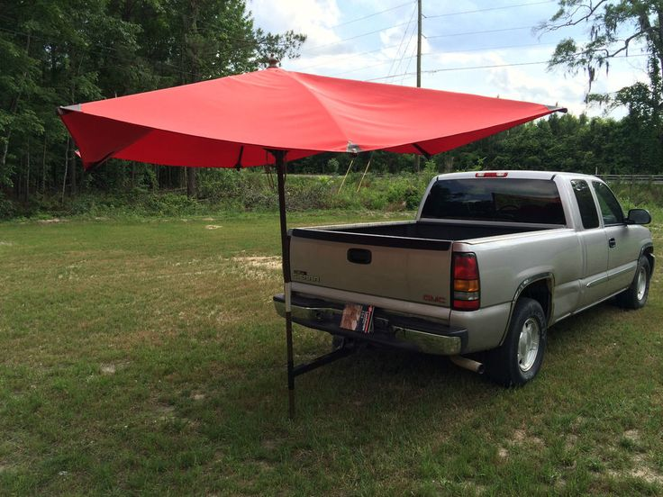 Truck Trailer Hitch Umbrella Holder Attachment for Tailgating