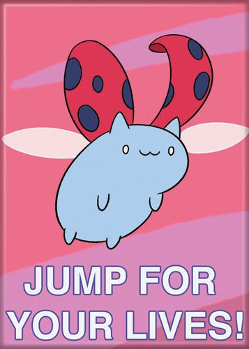 Catbug Jump For Your Lives Magnet