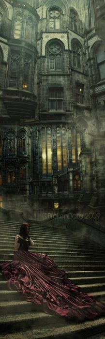 Long Dresses, Gothic Castle, Dreams, Dark Castles, Dark Fantasy, Beautiful Gothic Art, Fantasy Castle, Dark Gothic Art, Gothic Fantasy Art