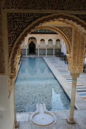 Alhambhra Palace, Granada, Spain - Yet another beautiful water feature. The Muslims were masters of this.