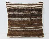 20x20 kilim pillow 20x20 large couch pillow 20x20 pillow case big pillow cover giant pillow cover large floor cushion brown pillows 25379