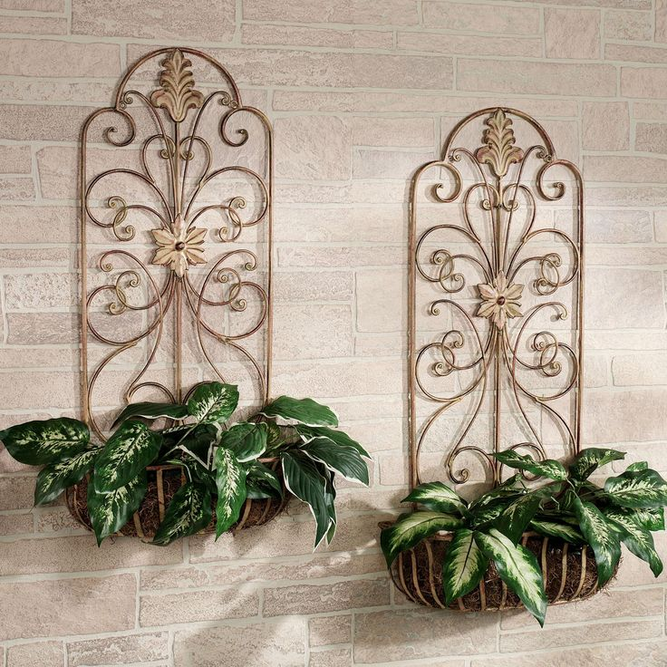 Metal wall planters indoor