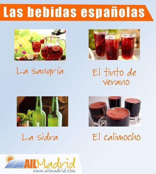 Algunas bebidas españolas típicas