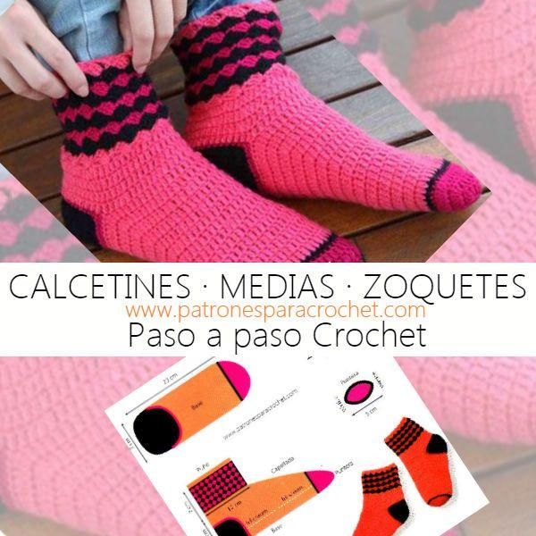 177 mejores im genes de calcetines en pinterest - Puntos para calcetar ...