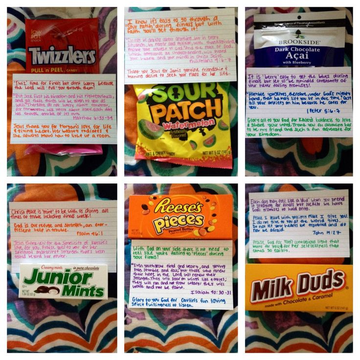 Candy, Bible Verse, and affirmations for finals week. LOVE ...